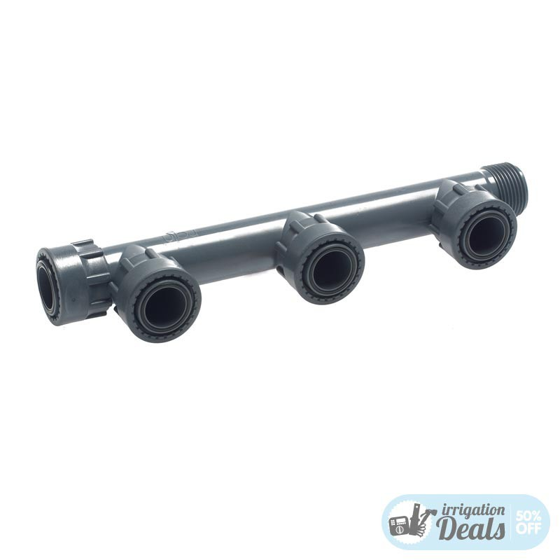 """2 3 4 Way PVC Manifold for solenoid valves - 1"""""""