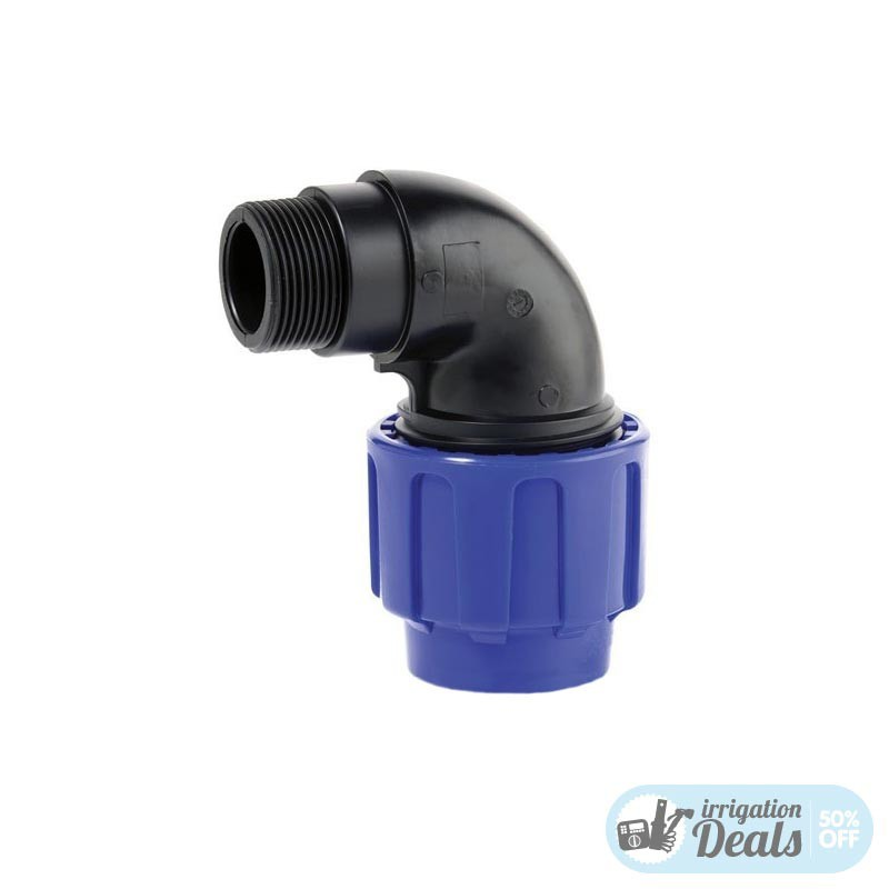 Male Elbow - Compression fittings for irrigation