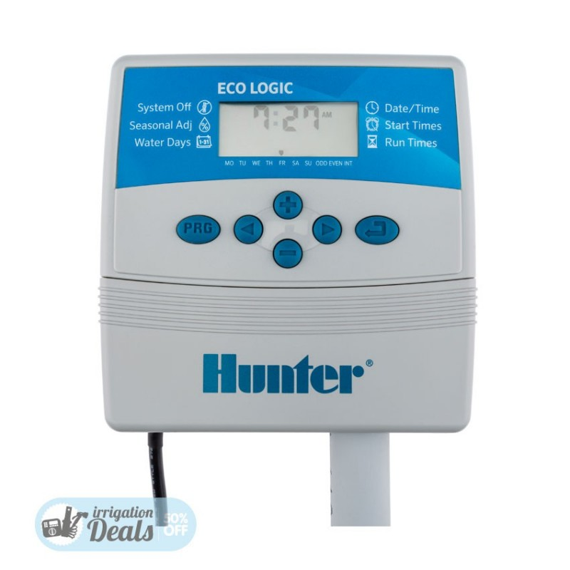 Hunter controller Eco Logic - 4 6 station indoor timer - ELC401i-E - ELC601i-E
