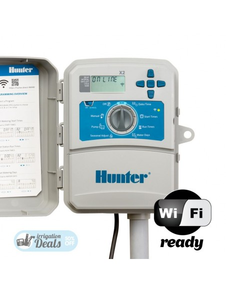 Programador Hunter X2 - 6 estaciones - Exterior - X2601E - Wifi Ready